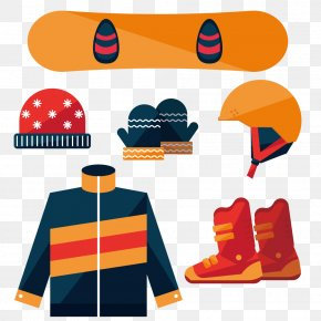 Graphic Design Snowboard Kit - Graphic Design Flat Design PNG