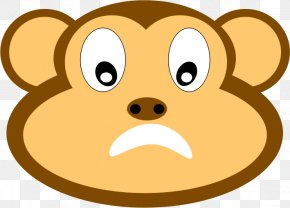 Monkey Clipart - Snout Whiskers Nose Mammal Cartoon PNG