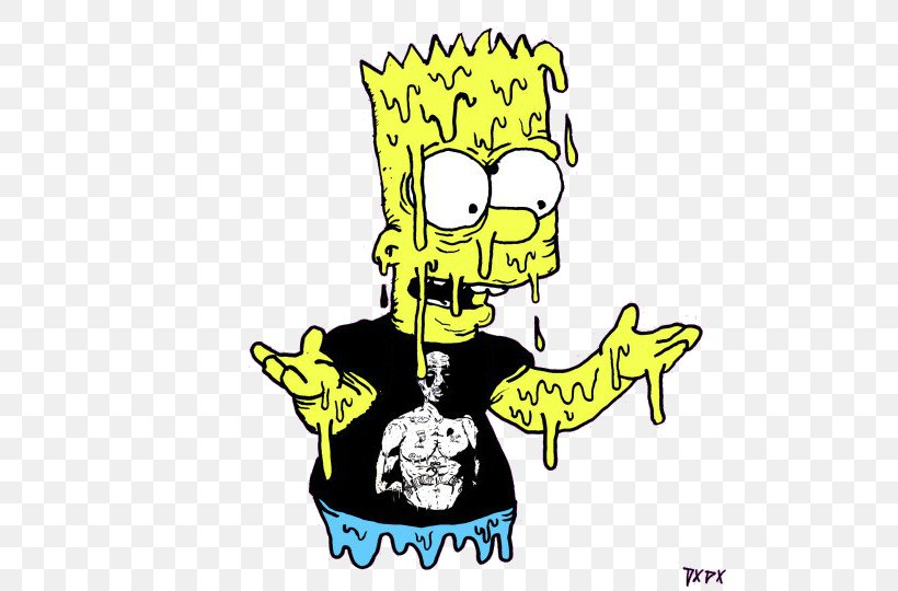 Bart Simpson Homer Simpson Lisa Simpson Drawing Psychedelic
