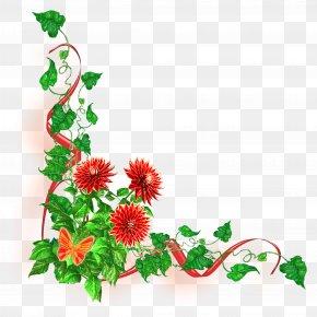 Flower Border - Flower Garden Roses PNG