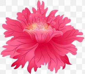 Red Flower Clip Art Image - Flower Pink Clip Art PNG