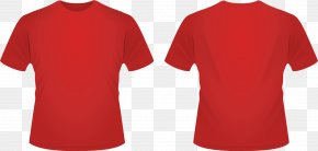 Red Template Cliparts - T-shirt Crew Neck Neckline Clothing PNG