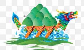 Dragon Boat Dumplings Painted - China Zongzi Dragon Boat Festival U7aefu5348 PNG