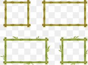 Vector Bamboo Frame - Bamboo Euclidean Vector PNG