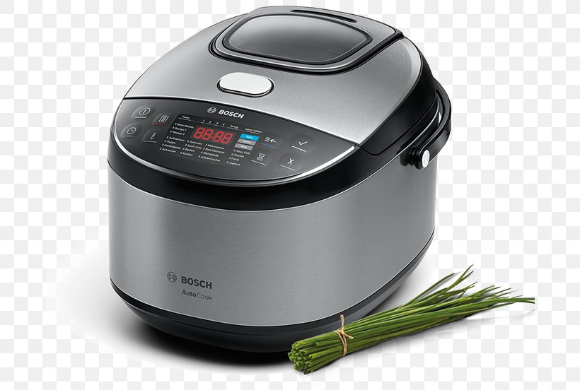 Rice Cookers Multicooker Bosch AutoCook MUC28B64 Robert Bosch GmbH Pressure Cooking, PNG, 692x552px, Rice Cookers, Food Steamers, Home Appliance, Kitchen, Multicooker Download Free