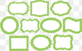 Lime Border Frame Photos - Area Polka Dot Shape Picture Frame Pattern PNG