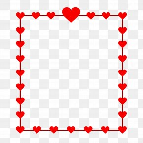 Red Heart Frame - Clip Art Borders And Frames Heart Openclipart Free Content PNG