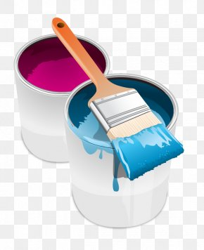 Vector Paint Bucket - Paint Tin Can Brush Clip Art PNG