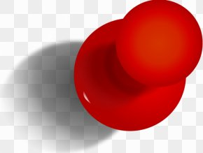Red Push Pin - Paper Red Pin Sewing Needle PNG