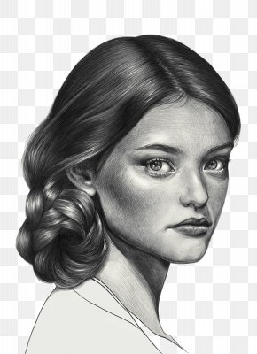 Hand-painted Beauty - Black And White Drawing Pencil Sketch PNG