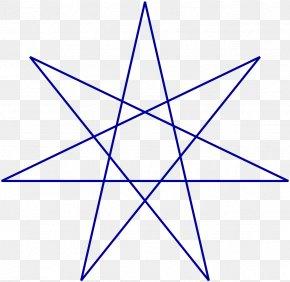 Star - Heptagram Blue Star Wicca Pentagram Alexandrian Wicca PNG