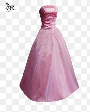 Gown - Wedding Dress Pink Gown Formal Wear PNG