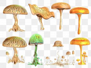 Agaricus Russula Integra - Mushroom Fungus Shiitake Design Drawing PNG
