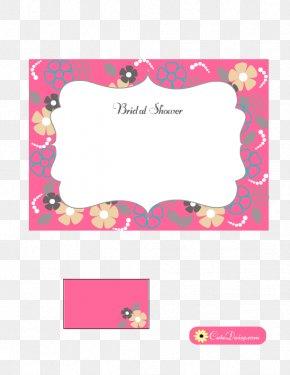 Bridal Shower - Magenta Petal Font PNG