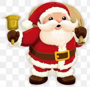 Cartoon Santa Claus - Santa Claus Christmas Gift Clip Art PNG