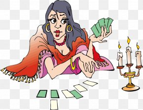 Woman Playing Cards - Tarot Psychic Reading Playing Card Clip Art PNG