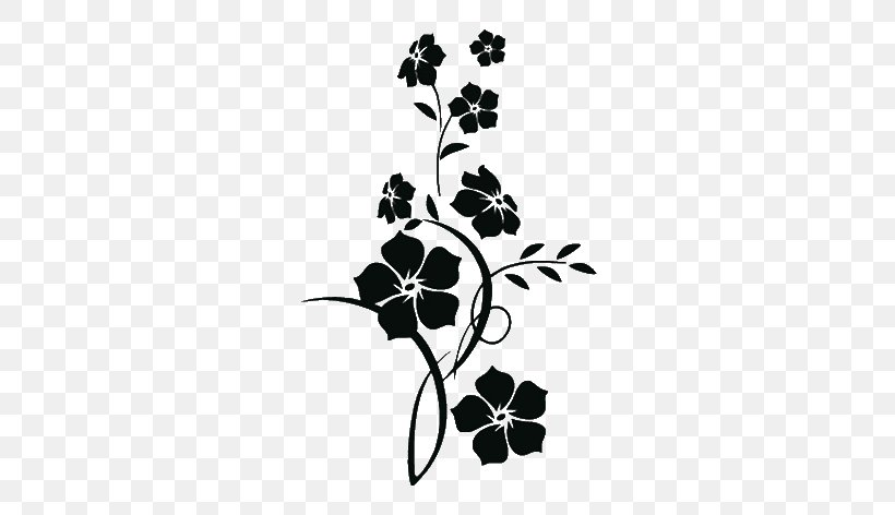 Wall Decal Floral Design Flower Sticker, PNG, 680x472px, Wall Decal, Art, Black, Black And White, Branch Download Free