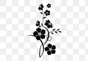 Flower - Wall Decal Floral Design Flower Sticker PNG