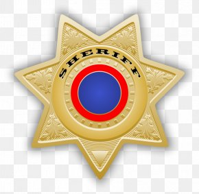 Sheriff - American Frontier Badge Sheriff United States Police Officer PNG