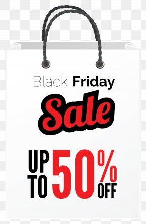 Black Friday Sale White Bag Clipart Image - Black Friday Handbag Clothing Shopping PNG
