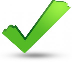 Green Tick Mark - Check Mark Clip Art PNG