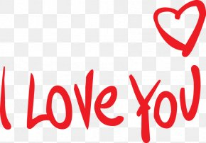 I Love You In English - Love Heart Romance PNG