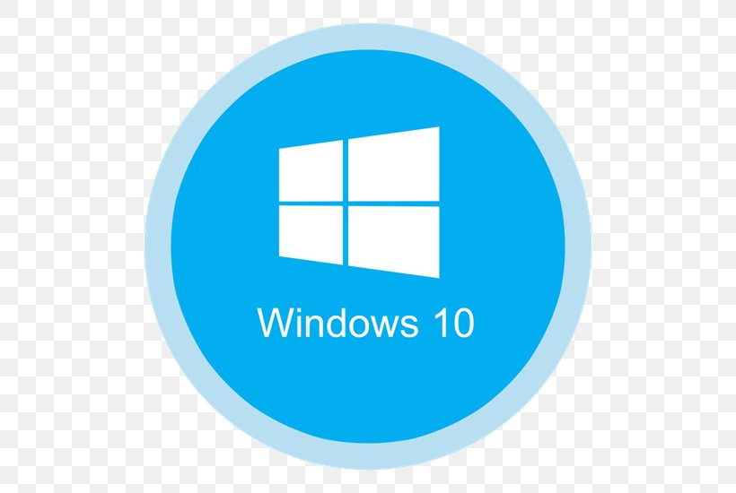 Windows 10 Computer Software Windows 8 Png 550x550px Windows 10 Area Blue Brand Computer Download Free
