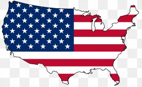 Vector American Flag - Flag Of The United States Map Clip Art PNG