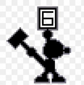 Pixel Game Maker Mv - Mr. Game And Watch Game & Watch Pixel Art Video Game PNG