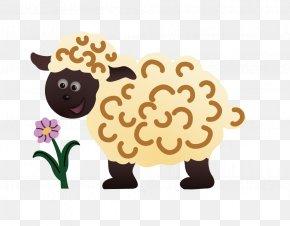 Cartoon Goat Grazing - Sheep Cartoon Clip Art PNG