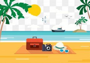 Holiday Beach - Beach Poster Illustration PNG