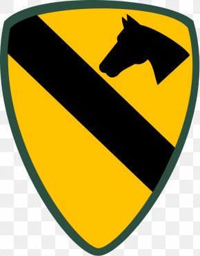 1st - Fort Hood 1st Cavalry Division Shoulder Sleeve Insignia PNG