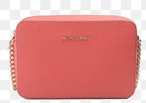 MichaelKors Michael Kors Leather Ms. Messenger Bag Pink Grapefruit - Handbag Michael Kors Leather Wallet PNG