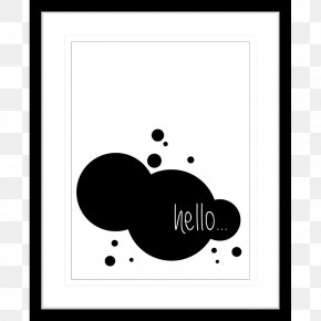 Typo - Black And White Watercolor Painting PNG