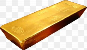 Gold - Gold Bar Ingot Bullion PNG