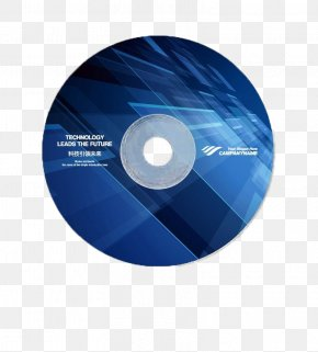 Blue DVD Disc Buckle Creative Design Template Free - Compact Disc Optical Disc DVD PNG