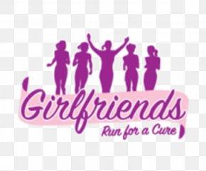 Girlfriends Run For A Cure Half Marathon Brand Logo Cause Marketing PNG
