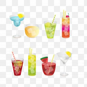 Water Drawing Summer Wine Vector Diagram - Juice Smoothie Cocktail Coffee Breakfast PNG