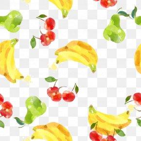 Drawing Banana Cherry Shading - Creative Watercolor Watercolor Painting Drawing PNG