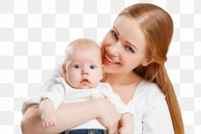 Mother Holding A Baby - Infant Mother Diaper Child Breastfeeding PNG