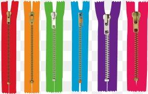 Vector Colored Zipper - Zipper Clip Art PNG