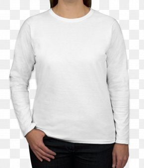 White T-shirt - Long-sleeved T-shirt Sweater PNG