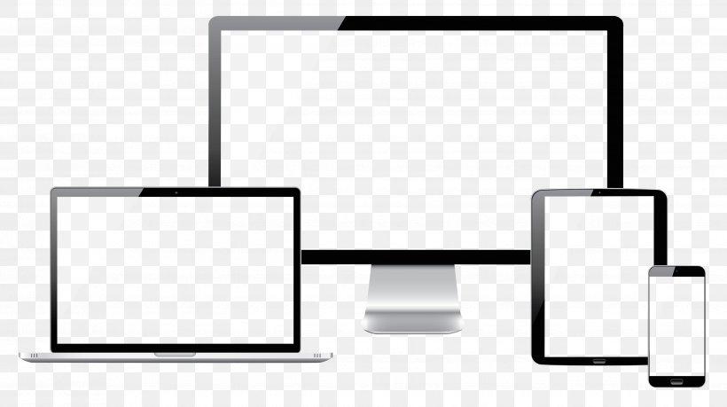 Web Development Responsive Web Design Website E-commerce, PNG, 3509x1968px, Responsive Web Design, Area, Black And White, Brand, Digital Marketing Download Free