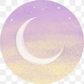 Fasting Month - Violet Purple Lilac Circle Crescent PNG
