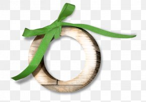 Green Wooden Bow Ring - Circle Download Computer File PNG