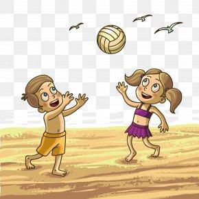 Children's Beach Volleyball - Child Summer Royalty-free Illustration PNG