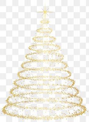 Gold Deco Christmas Tree Transparent Clip Art Image - Christmas Tree Christmas Ornament Clip Art PNG