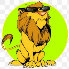 Humorous Cartoon - Lion Cat Felidae Cartoon Tiger PNG