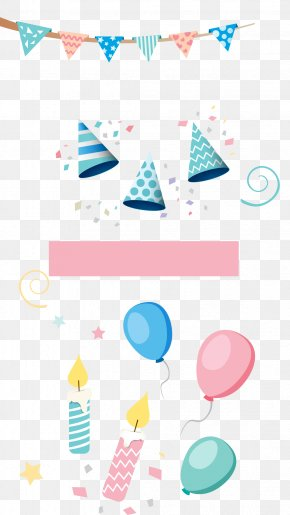 Hat Balloon Candle - Birthday Cake Candle PNG