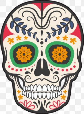 Tete De Mort - Calavera Mexico Skull And Crossbones Day Of The Dead PNG
